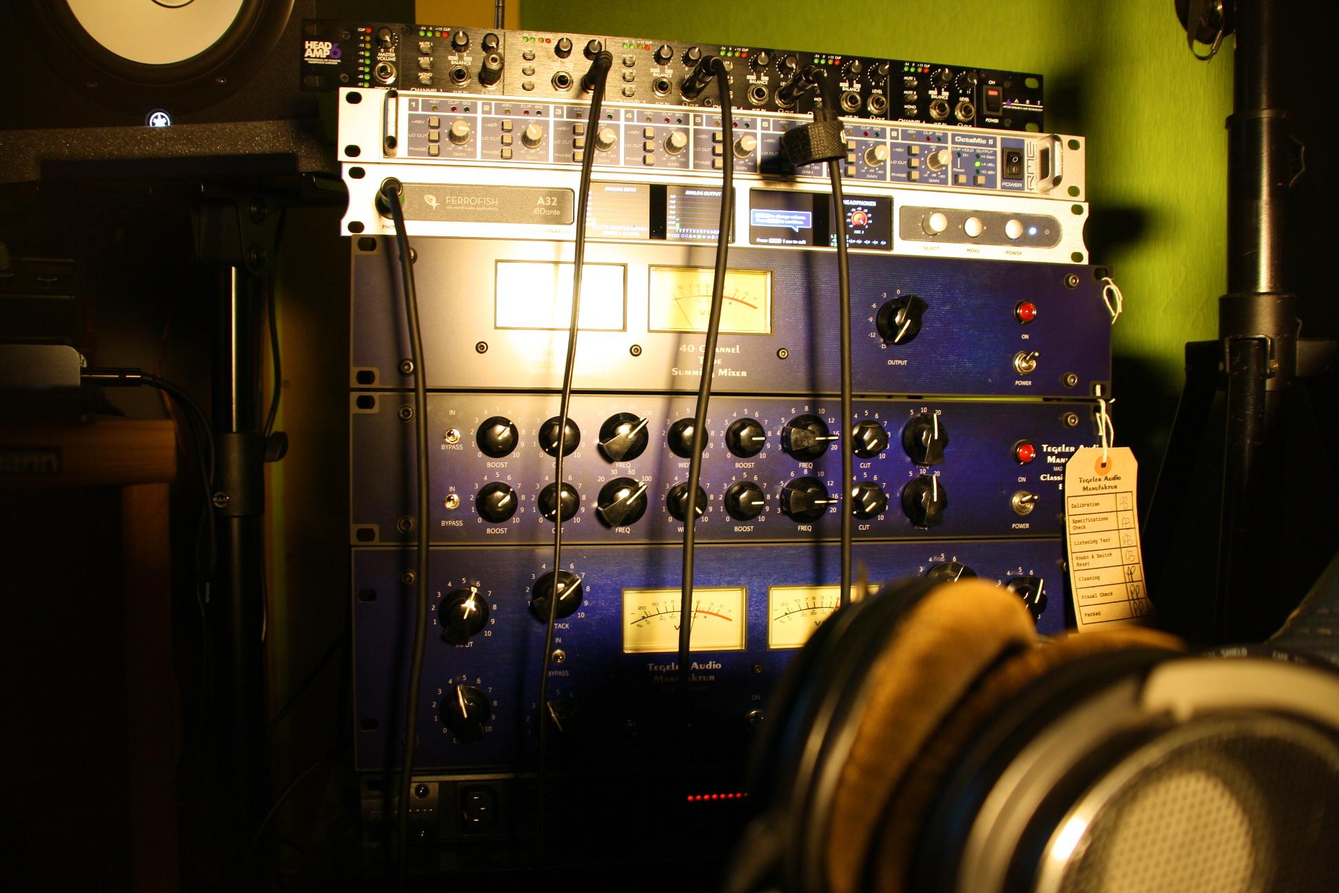 Tonstudio Audiospektrum analoge Kette