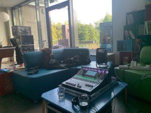 Die SQ5 von Allen & Heath als Mischpult bei Moritz Kruit & Band