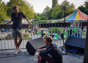 Moritz Kruit auf der Bühne im HDJ Itzehoe