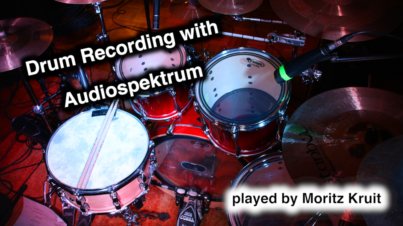 Drum Recording mit Audiospektrum
